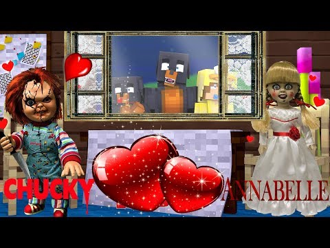 Minecraft EVIL ANNABELLE & CHUCKY GO ON A DATE TOGETHER!!