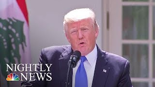 'Time Will Tell' If A.G. Sessions Keeps His Job, Pres. Donald Trump Says   NBC Nightly News