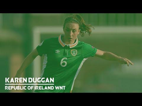 Republic of Ireland midfielder Karen Duggan on Iceland test