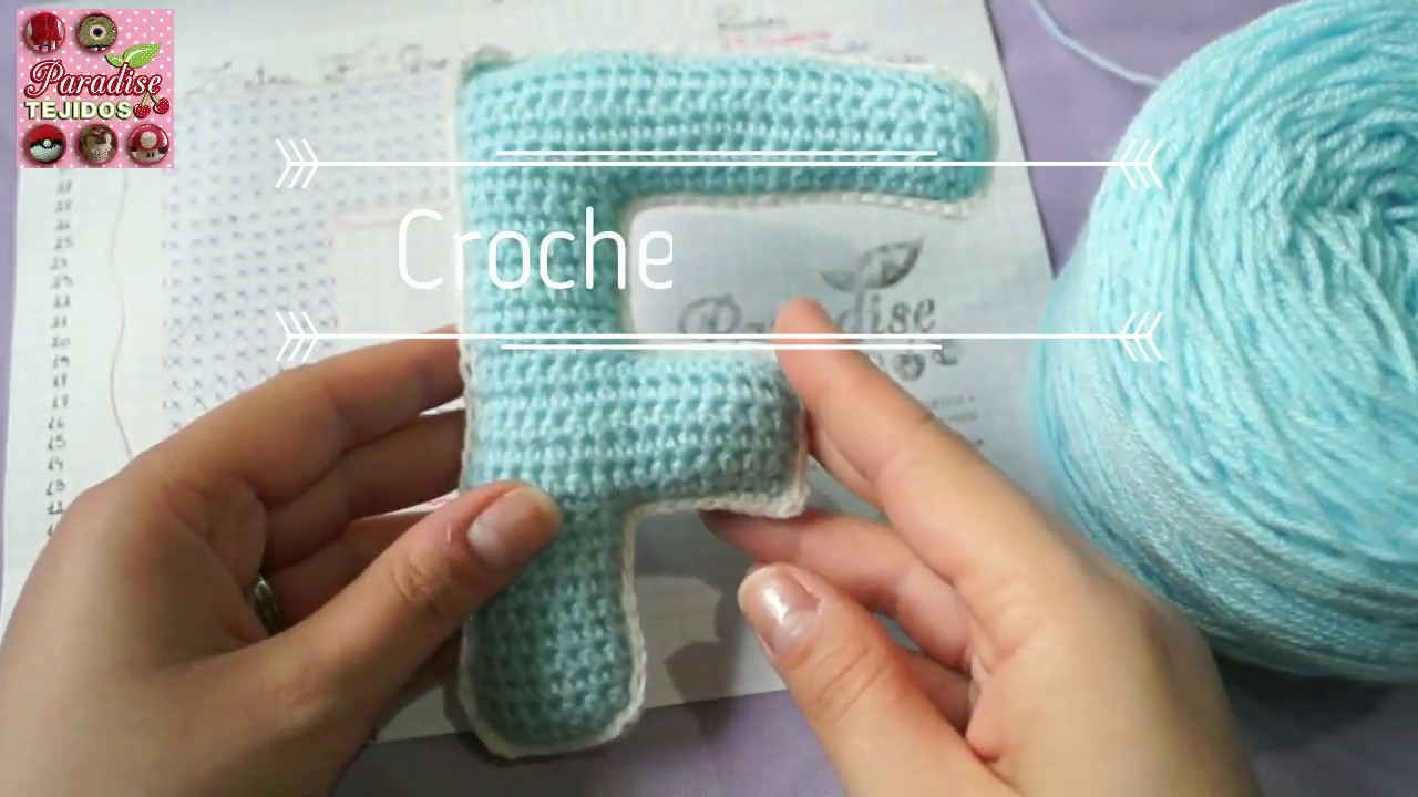 Crochet ganchillo letra F - paso a paso abecedario - YouTube