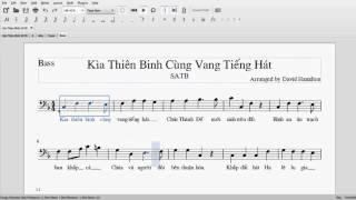 Bass (nam trầm) | Kìa Thiên Binh Cùng Vang Tiếng Hát