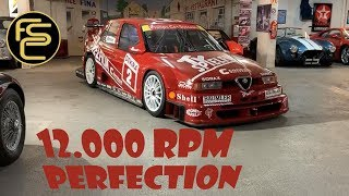 Super rare 12.000 Rpm ALFA ROMEO 155 V6 Ti DTM - REVIEW (Onboard + engine sound)