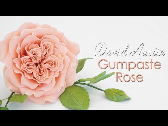 Gumpaste David Austin Sugar Rose Tutorial
