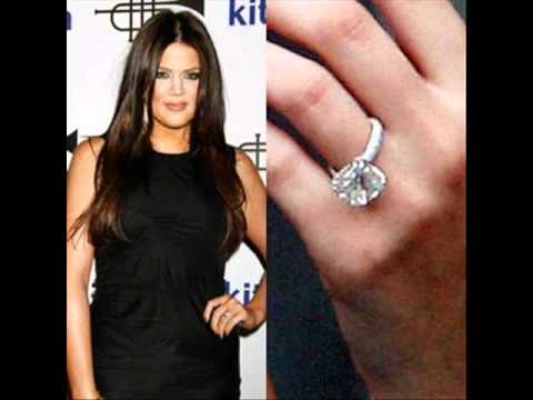 celebrity khloe kardashians engagement ring youtube - Khloe Kardashian Wedding Ring