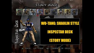 Wu-Tang: Shaolin Style | Inspectah Deck (Story Mode) | Playstation (TAS)