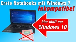 Neue Notebooks Windows 7 inkompatibel - Installation hängt - Laptop nur Windows 10 kompatibel - [4K]