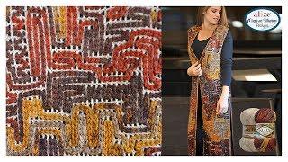 🔴 Zincir işi Uzun Yelek Yapımı -  Chain Work Vest