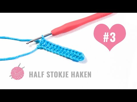 Leren Haken Supermooi Haakpatroon Vaste Half Stokje Stokje Beginner