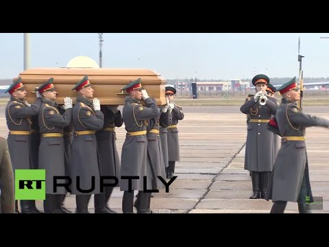 Russia: Grand Duke Nikolai Romanov Jr.'s remains arrive in Moscow