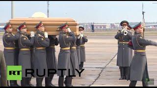 Russia: Grand Duke Nikolai Romanov Jr.'s remains arrive in Moscow