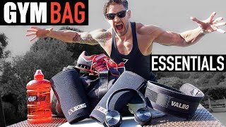 TOP 10 GYM BAG ESSENTIALS - The Kit You NEED to Maximise Training & Gaining!