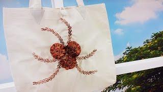 Zilda Mateus – Ecobag com Bordado Flor da Terra