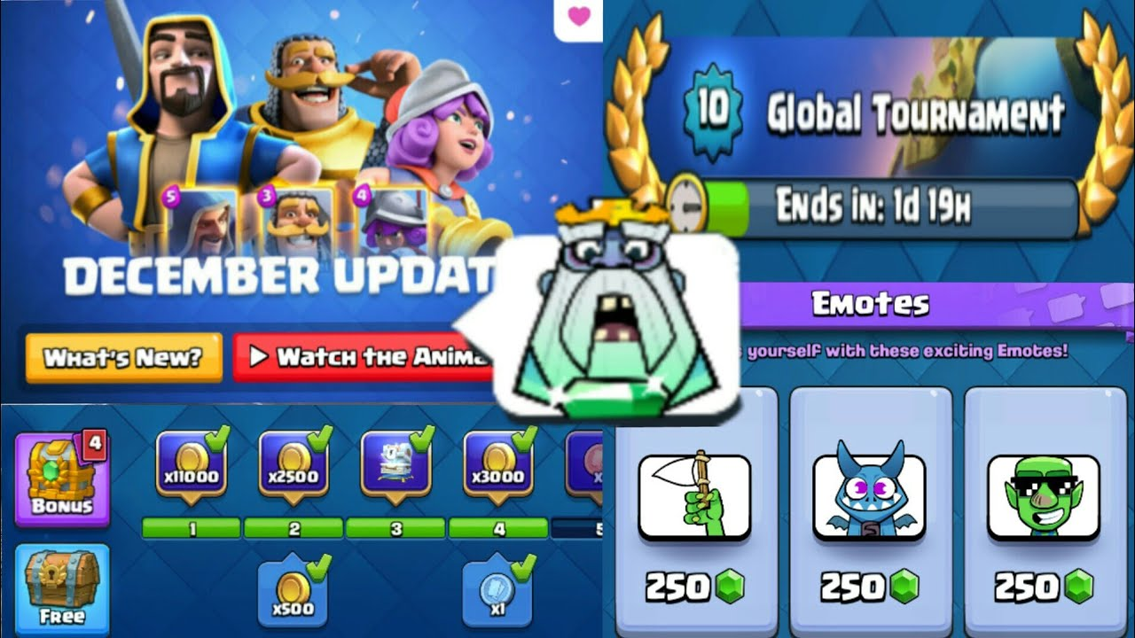 New December Update Gameplay Emotes On Gems New Royale Ghost Emoji