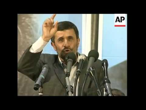 Ahmadinejad Warns The West No Backdown On Nuclear Programme