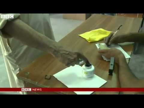 "News   Afghan election; ""Taliban chopped my finger off"""