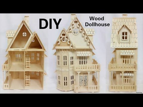 DIY Mini Dollhouse | DIY Wood Two Floor Dollhouse Construction