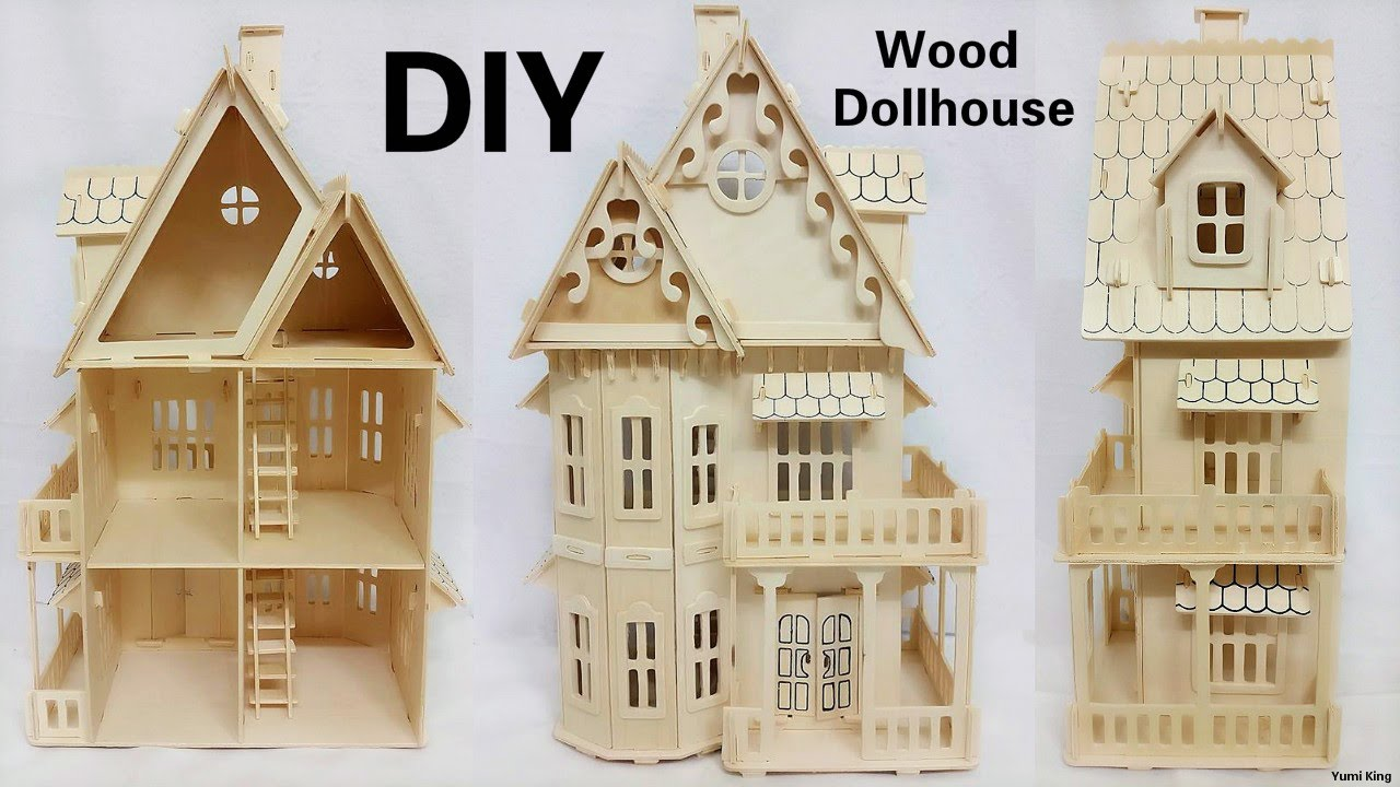 DIY Mini Dollhouse | DIY Wood Two Floor Dollhouse Construction   YouTube
