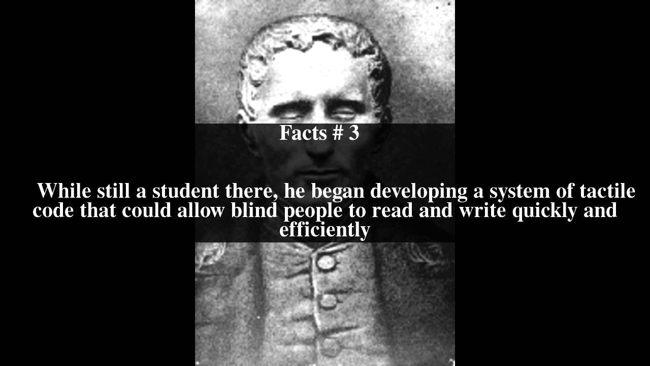 Louis Braille Top # 5 Facts - YouTube