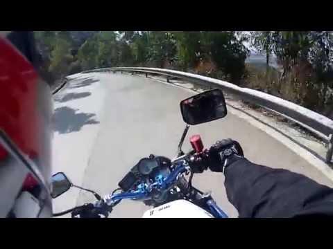 Ride from Guangzhou to Heyuan, Guangdong China on modified Honda CB-1/CB600 Hornet