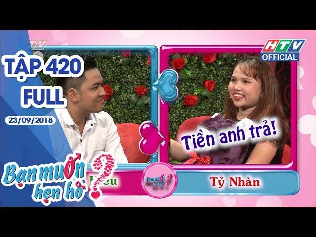 HTV BẠN MUỐN HẸN HÒ | Bất ngờ chàng trai đem HEO CON tặng bạn gái | BMHH #420 FULL | 23/9/2018