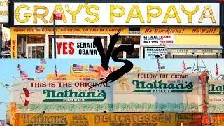 Nathans vs Gray's Papaya