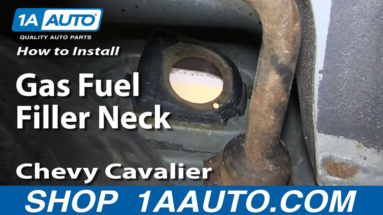 how to install replace rusted gas fuel filler neck 1999