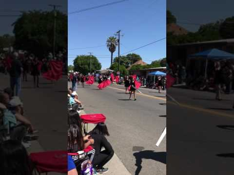 Golden West Middle School Marching Band Color Guard Dixon Parade 2017
