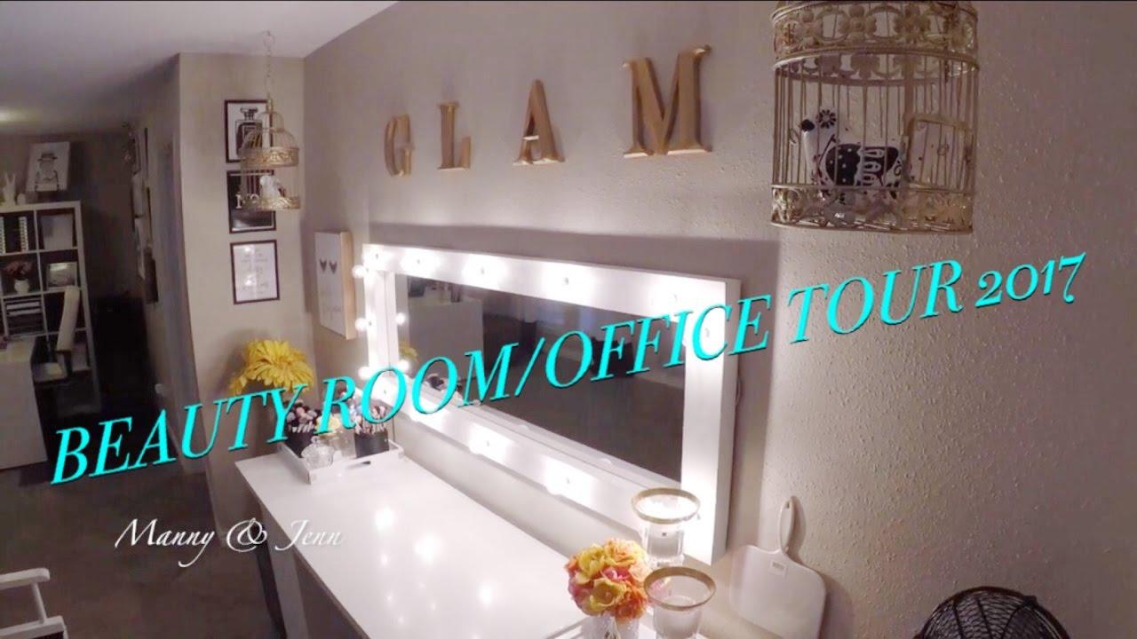 Makeup studio  Beauty Room  Home office tour 15