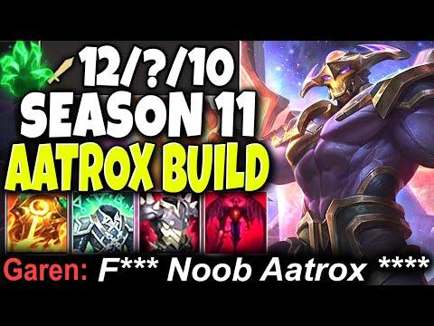 Tilt ALL with this Max Heal Season 11 Aatrox Build 🔥 Up to 180% 🔥 LoL Aatrox Preseason s11 Gameplay