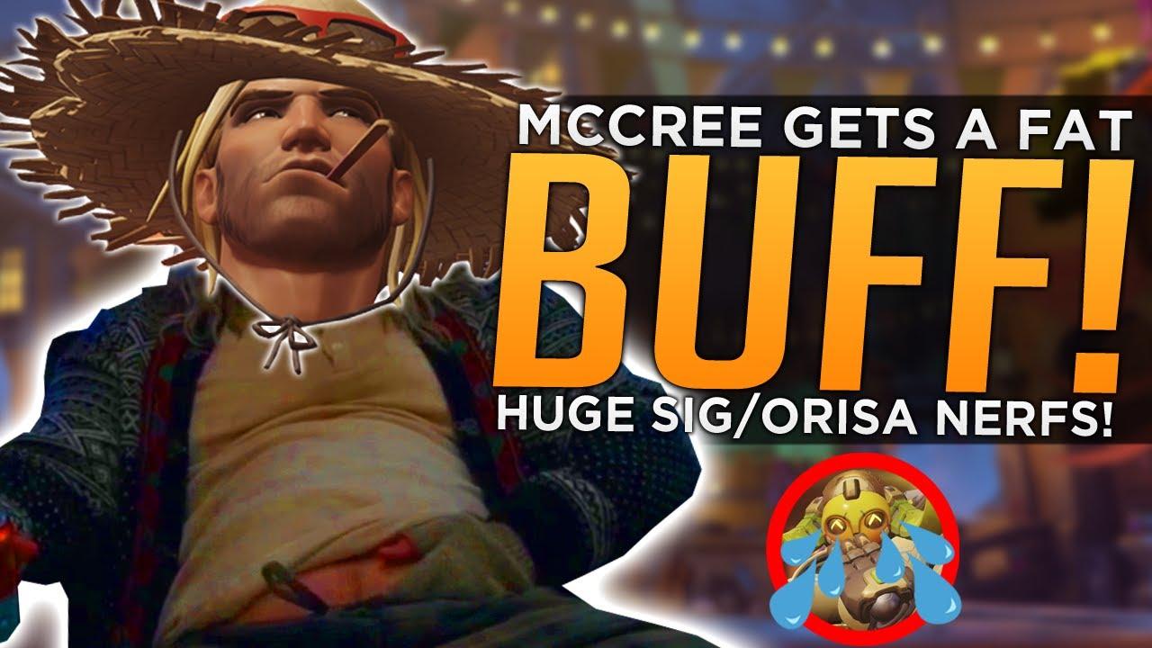 Overwatch: McCree Gets FAT BUFF! - MASSIVE Orisa Sigma NERFS! thumbnail