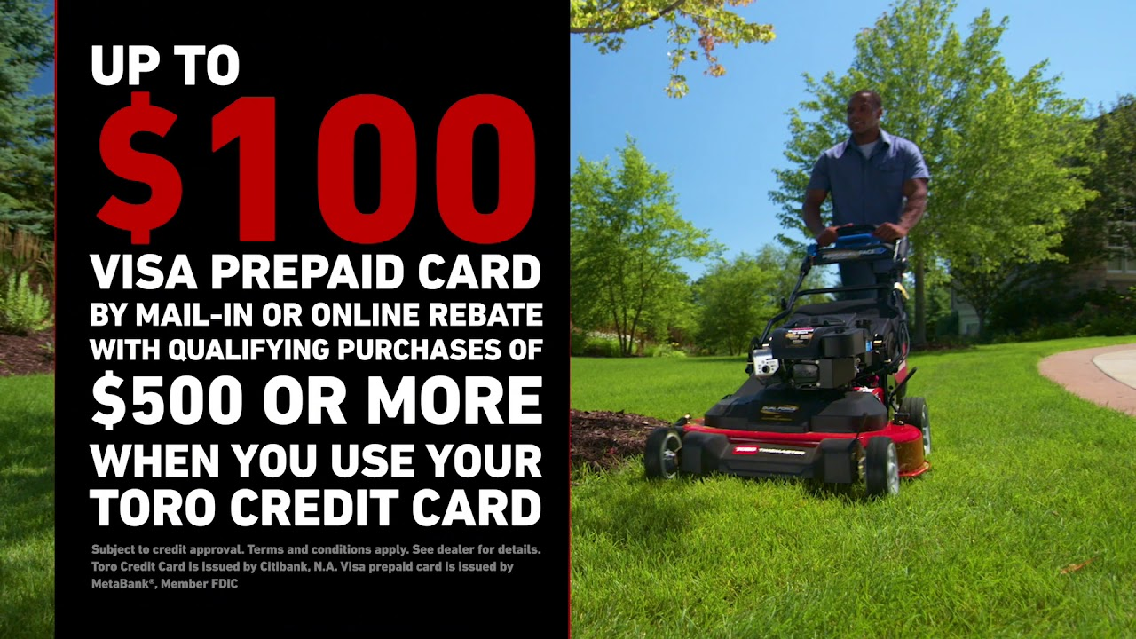 Special New Rebate & Finance Offers on the Toro Credit Card