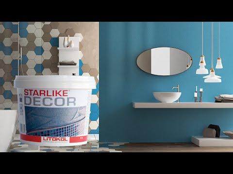 Litokol starlike decor rinnovare il bagno senza togliere le piastrelle risparmiando anche - Bagno senza piastrelle ...
