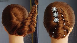 French Braid Hairstyles For Weddings French Roll Updo Hairstyle New Party Hairstyle 2020 Girl