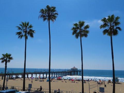 "Hermosa Beach to Manhattan Beach, CA - strolling ""The Strand"" walkway"