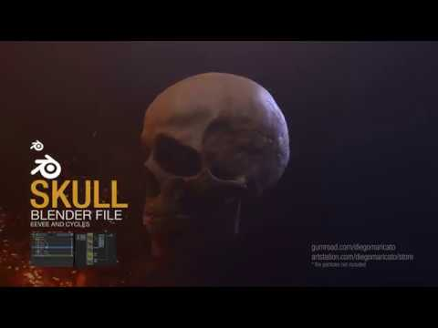 ArtStation - Skull - Sculpting and Lookdev, Diego Maricato