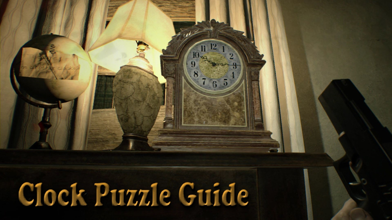 Resident Evil 7 Master Bedroom Clock Puzzle Guide Youtube
