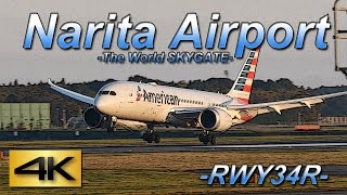 【4K】1Hour Spotting @Narita Rwy34R(December 06 2015) the Greatest Airport Spotting