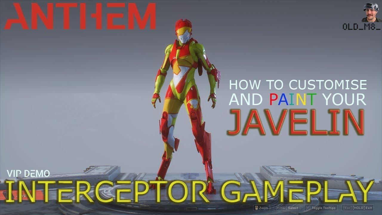 Anthem Interceptor Gameplay And Customisation Tutorial Youtube