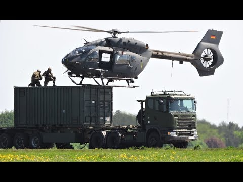 German Special Forces: Arresting a target (9 helicopters) | ILA Berlin Air Show 2018