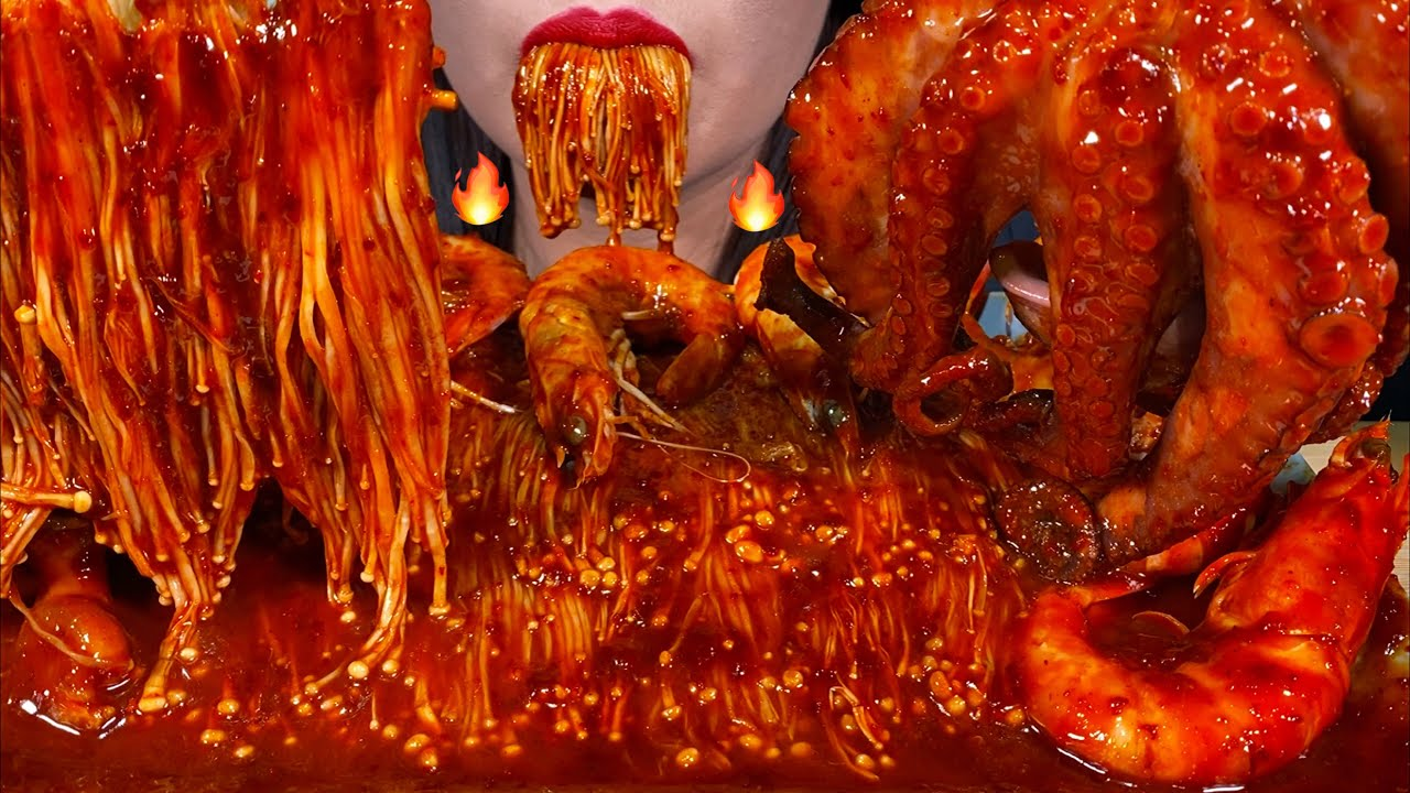 ASMR SPICY SEAFOOD BOIL *makanan laut pedas* 먹방 MUKBANG MASSIVE Eating Sounds