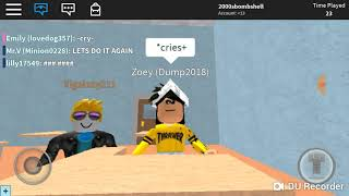 ROBLOX Zoey || an anti bullying suicidal roblox very short film PART 2