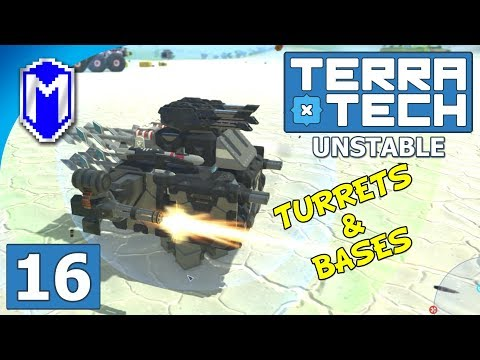 TerraTech - Building Some Mining Bases And Turrets - Lets Play TerraTech Unstable Gameplay Ep 16