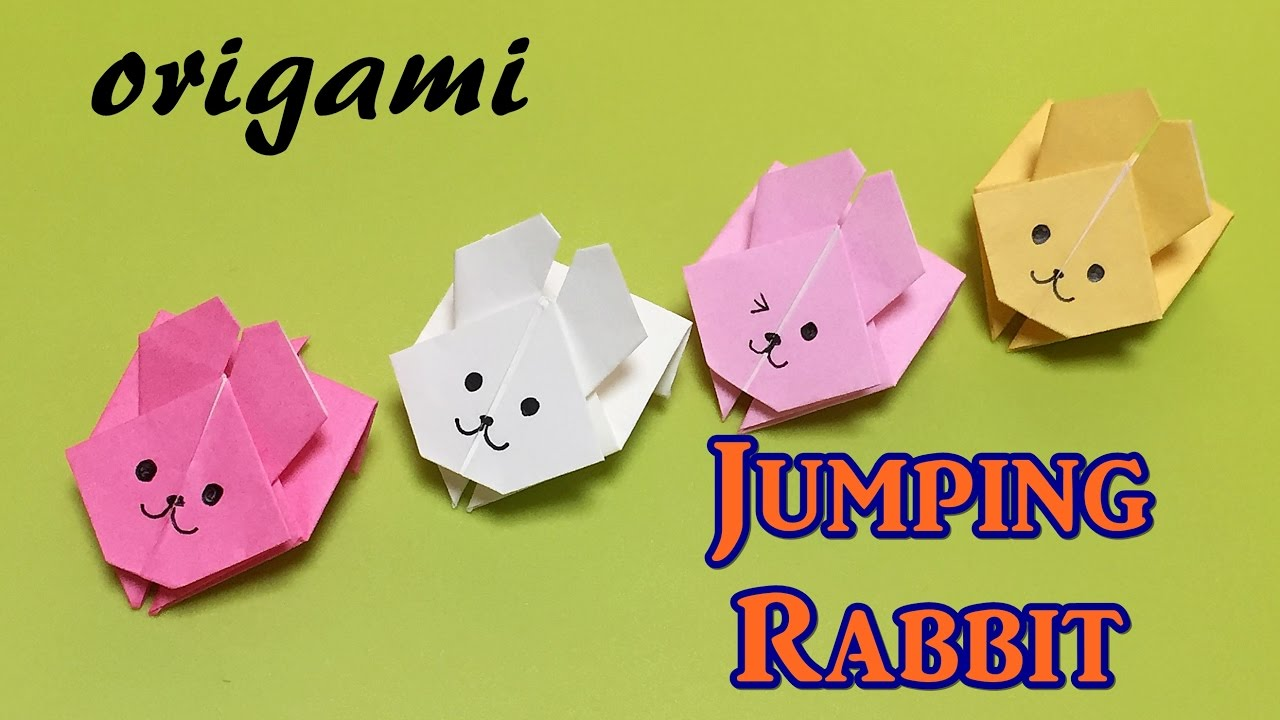 Easy Origami Toy For Beginners Paper Jumping Rabbit With One Piece Of