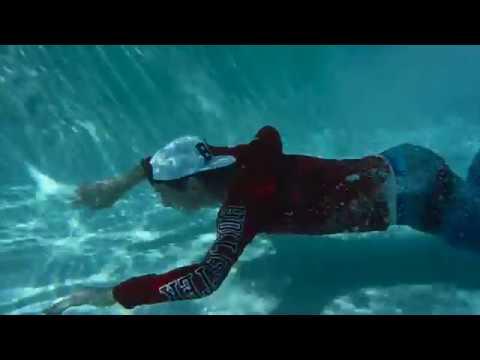Yeezys in the pool