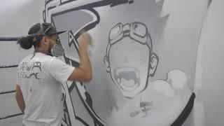 Murale de style graffiti - Bibliothèque de Boucherville