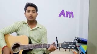 Tere Sang Yaara Atif Aslam Guitar Lesson Rustom Easy Chords And Strumming Patern