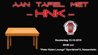 Aan tafel met HNK, donderdag 12 december 2019
