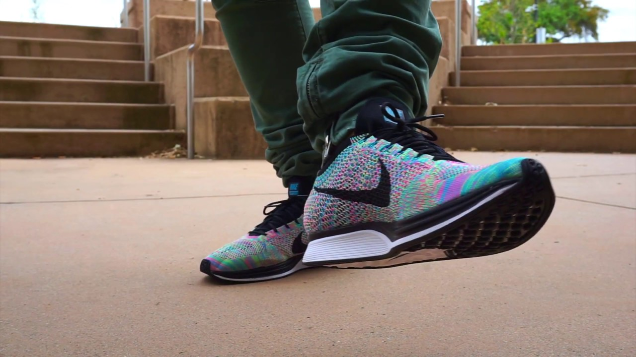 2ea27b53adc8 2017 Nike Flyknit Multi--Color With On Feet - YouTube