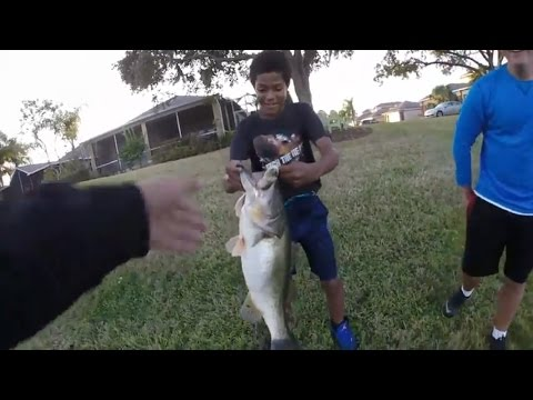 HUGE Bass in a Florida Golf Course Pond | Florida Bass Fishing