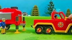 Feuerwehrmann Sam: Feuerwehrauto Venus & Feuerwehr Anhänger |  Spielzeug Unboxing
